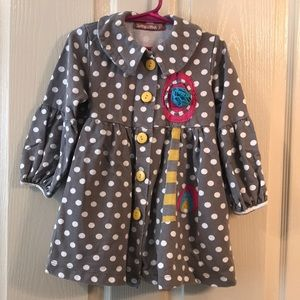 Jelly the Pug Button Down Dress for little girls